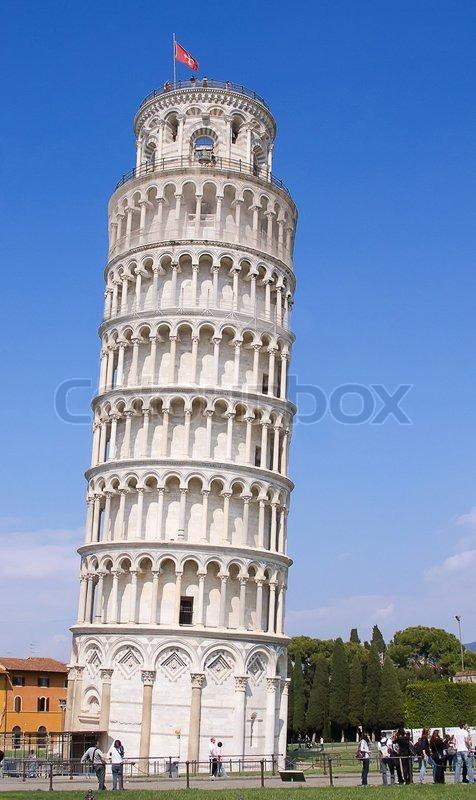 Det skæve tårn i Pisa, Italien | stock foto | Colourbox