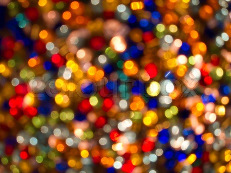 Marvelous Glitter Of Color Christmas Lighting Background, Stock Photo