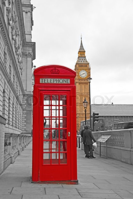 Famous red telephone booth in London, UK | Stock Photo ... Public Policy Symbol