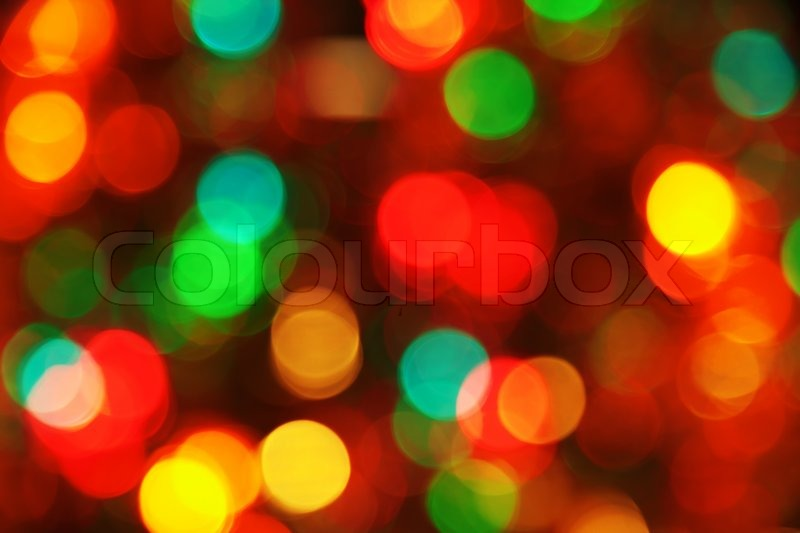 Glitter Of Color Christmas Lighting Background, Stock Photo