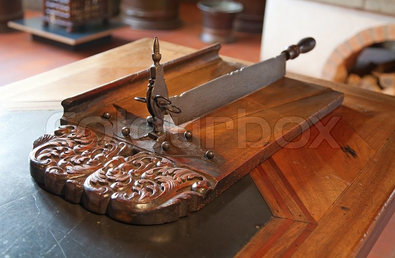 Old knife on the ancient kitchen (Kyburg castle, Switzerland), stock photo