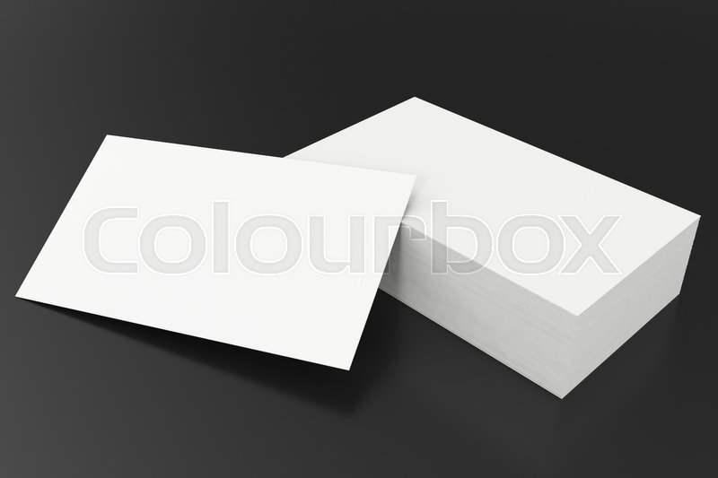Business cards blank mockup, template, on balck background, 3d ...