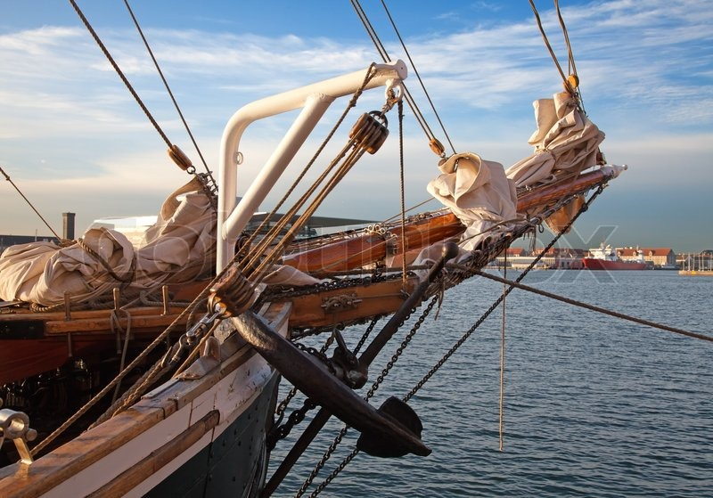Vintage 19th century sailing ship mast anchor and sails stock stock image of vintage 19th century sailing ship mast anchor and sails sciox Gallery
