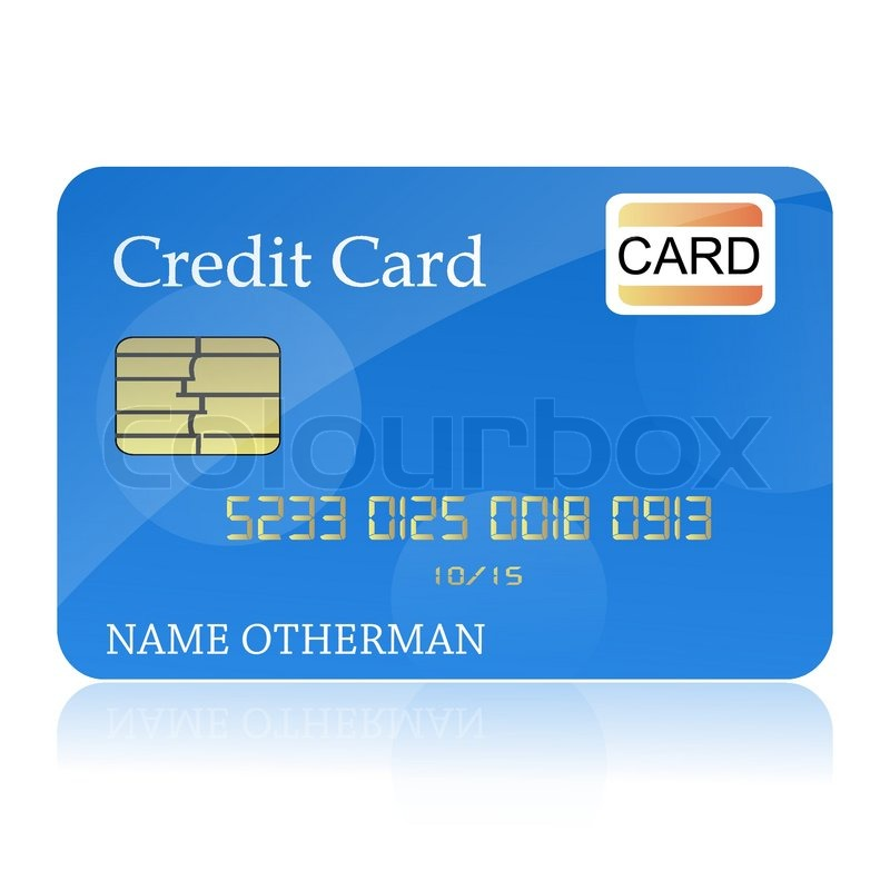 illustration of credit card on isolated background stock vector