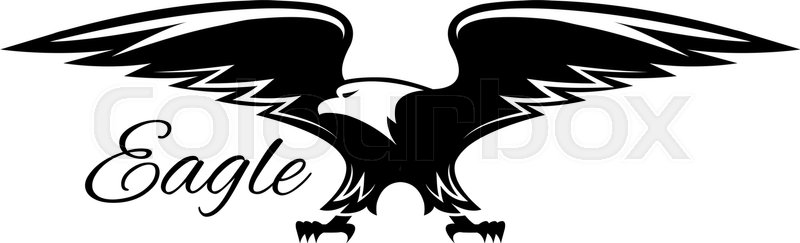 American Eagle Isolated Emblem Vector Symbol Of Black Griffin