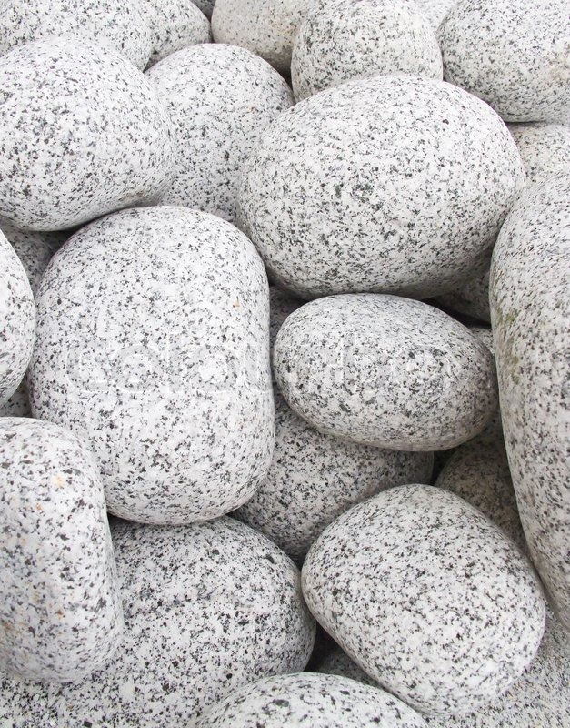 Close Up Of The White Pebbles