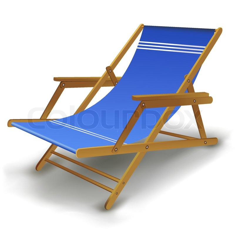 Illustration Of Colorful Beach Chair On White Background | Stock Vector |  Colourbox