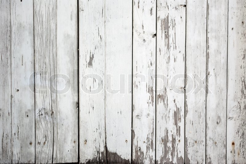 The Background Of Weathered White Painted Wood Stock