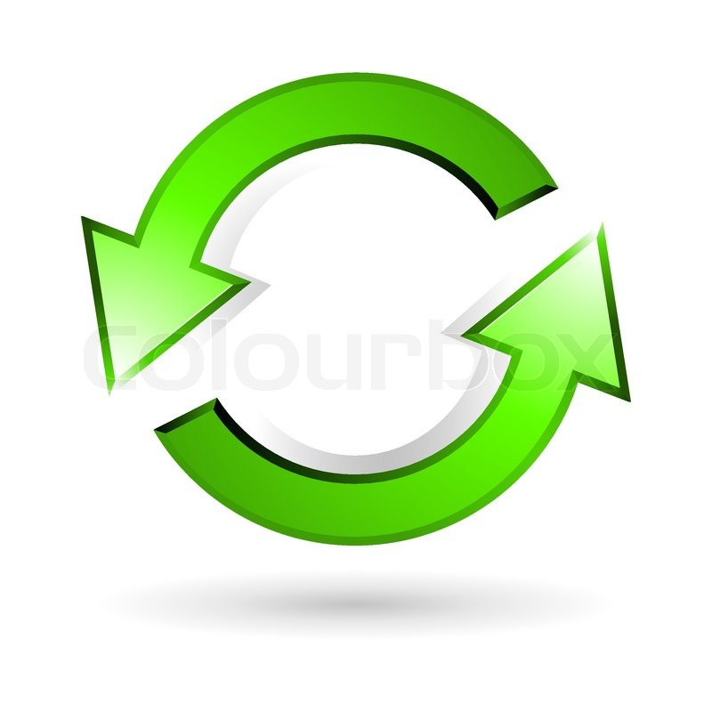 Illustration Of Recycle Arrow On White Background Stock Vector