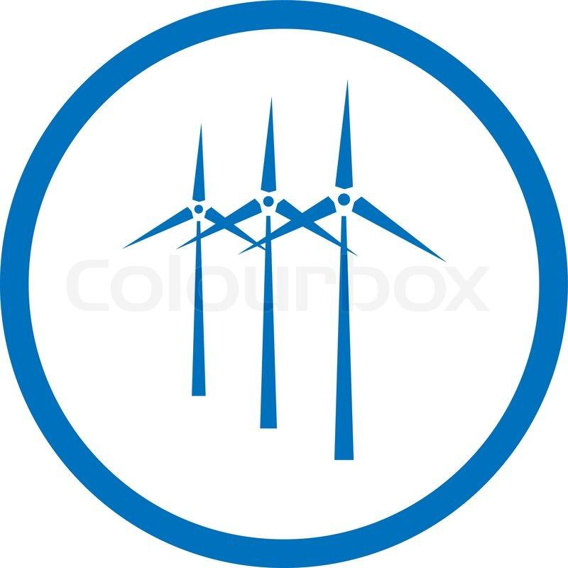 Wind Farm Icon Vector wind turbine icon