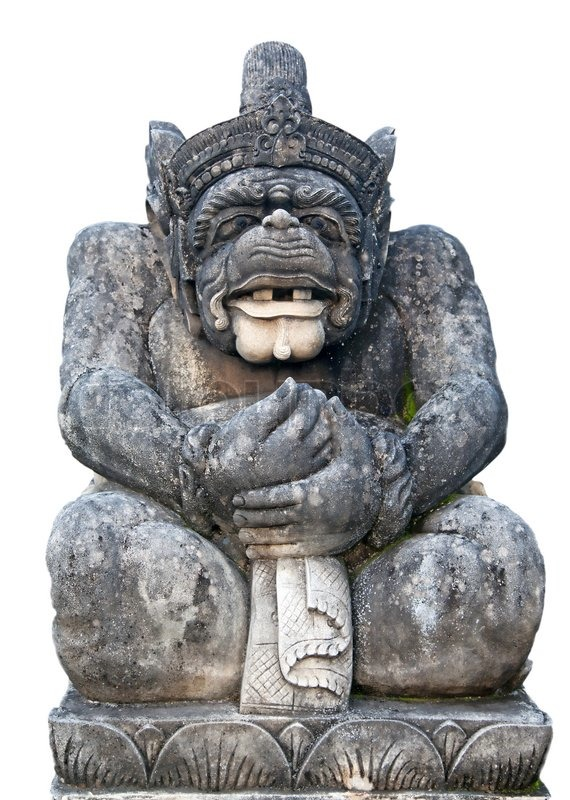 Stock image of 'Traditional Balinese sculpture depicting Hanuman (One ...