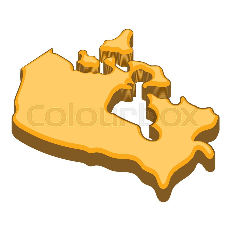 Canada map icon Cartoon illustration of Canada map vector icon for