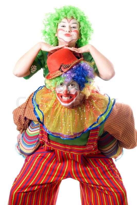 ein paar lustige clowns stockfoto colourbox. Black Bedroom Furniture Sets. Home Design Ideas