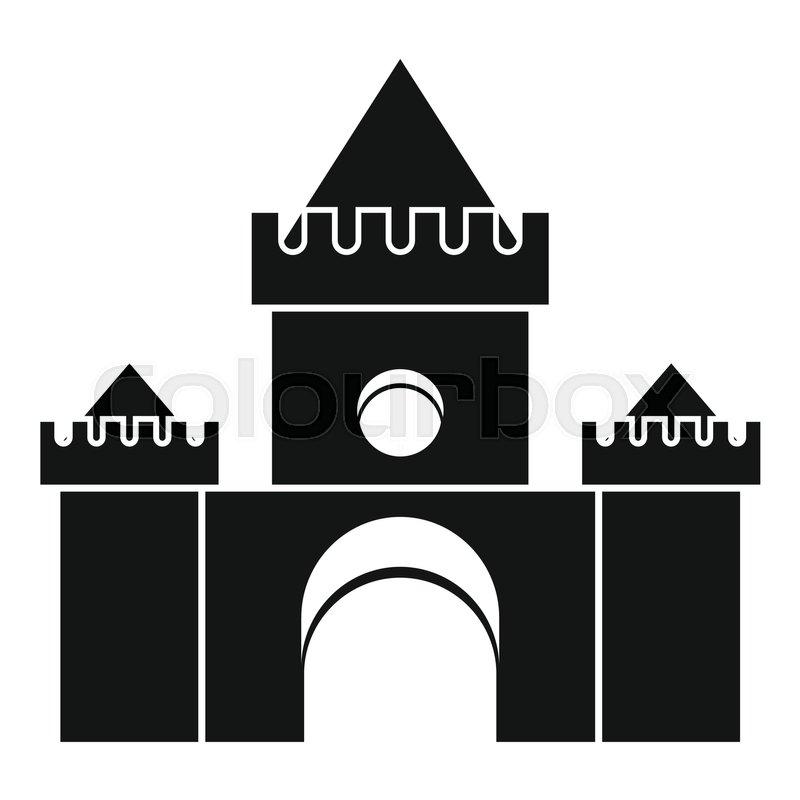 Fairytale castle icon. Simple illustration of fairytale castle vector icon for web, vector