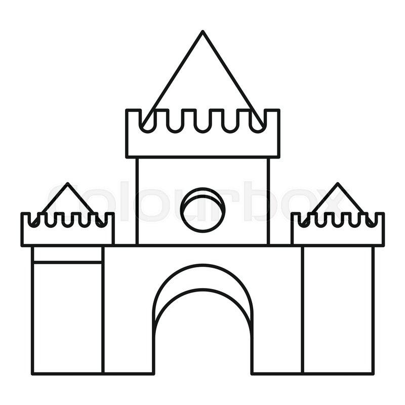 Fairytale magic castle icon. Outline illustration of fairytale magic castle vector icon for web, vector