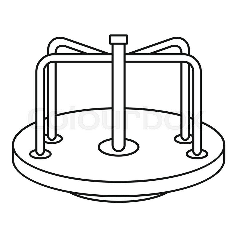 Children carousel icon. Outline illustration of children ...