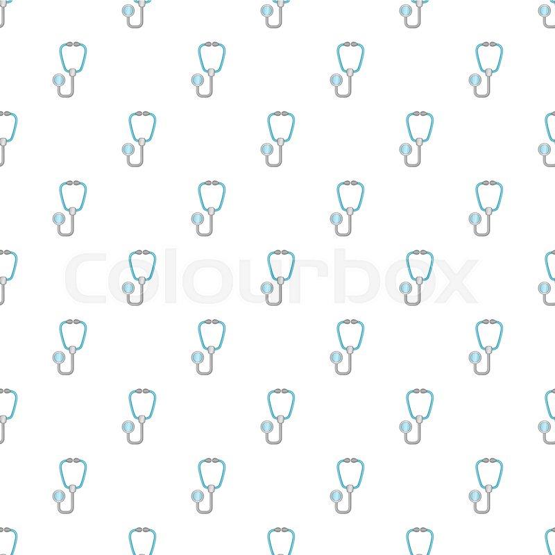 Stethoscope Pattern Cartoon Illustration Of Stethoscope Vector Delectable Stethoscope Cover Pattern