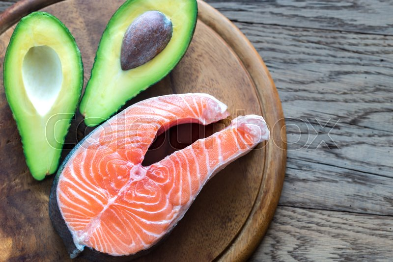 Food with healthy fats, stock photo