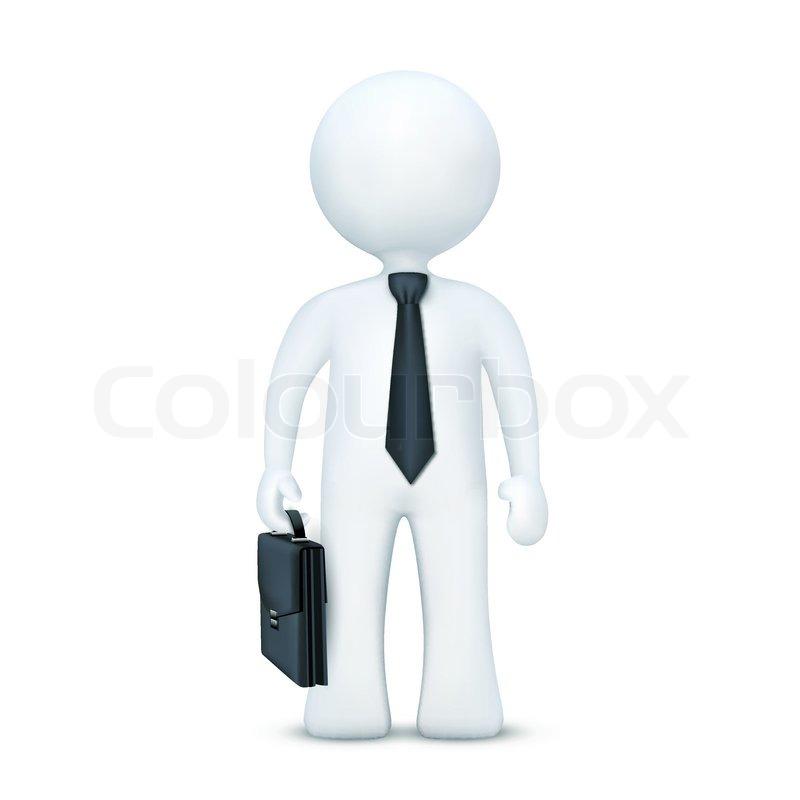 Businessman thinking cartoon