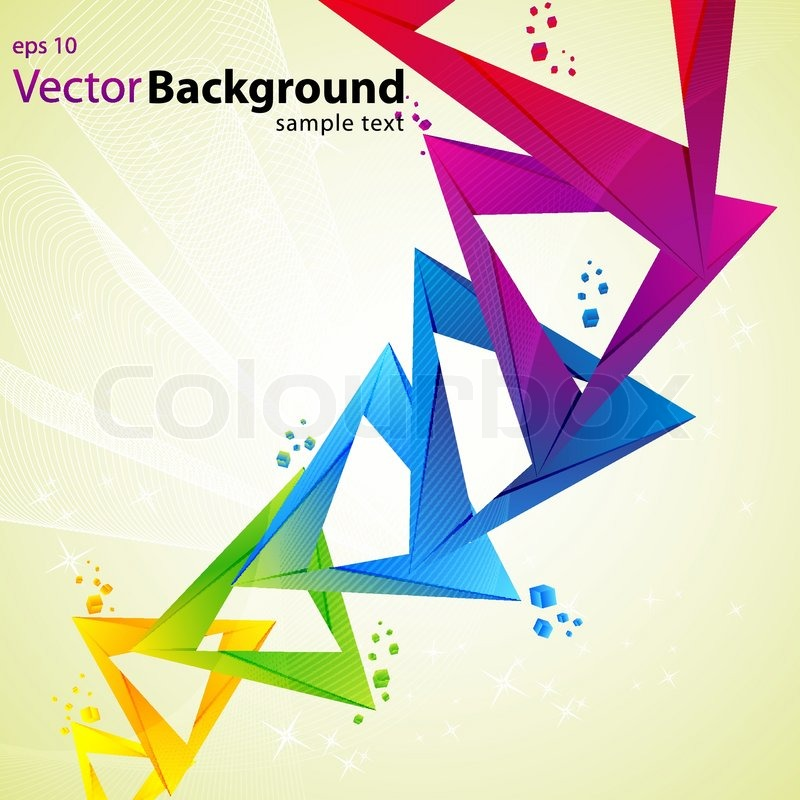 Illustration Of Abstract Vector Background With Colorful