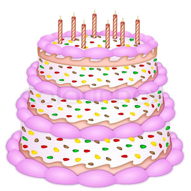 Illustration of decorative birthday     | Stock vector