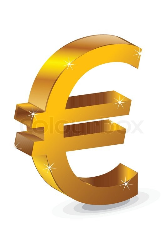 Vector Illustration Of A Euro Symbol On An Isolated Background