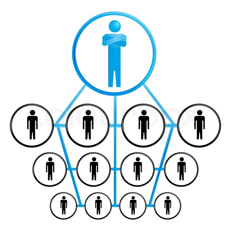 Illustration Of Organization Chart On White Background Stock