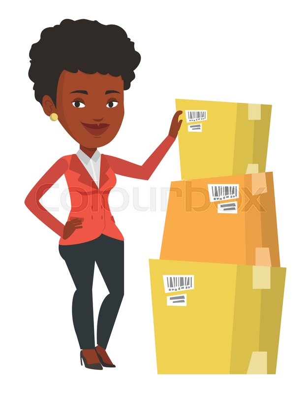 Image result for woman working warehouse cartoon
