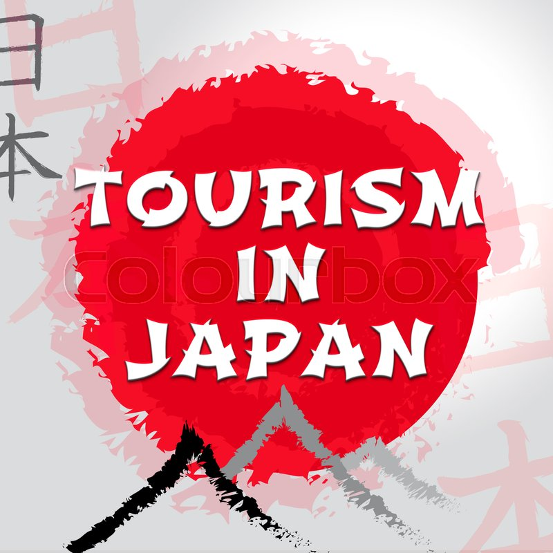 Stock image of 'Tourism In Japan Shows Japanese Travel Or Tours'