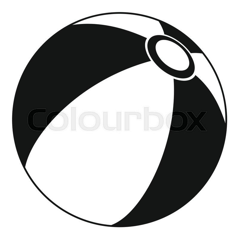 beach ball icon simple illustration of beach ball vector icon for rh colourbox com beach ball vector tutorial beach ball vector icon