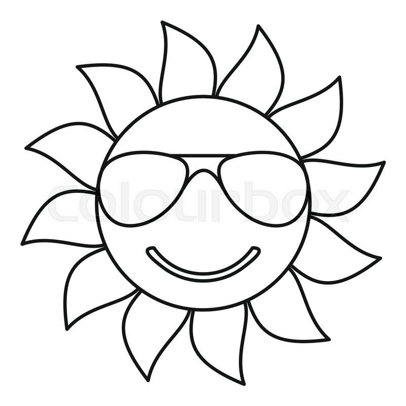 sun icon outline illustration of sun vector icon for web box vector m35 box vector template