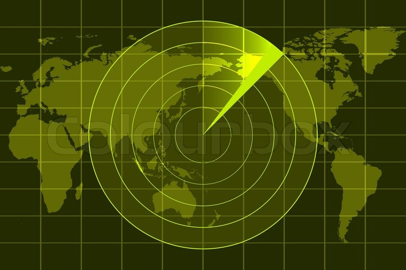 Best Home Surveillance System >> Illustration of radar | Stock Vector | Colourbox