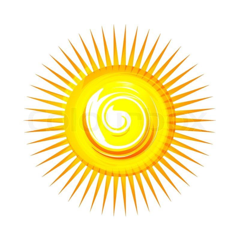 Yellow sun sketch
