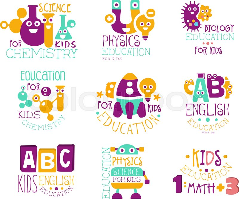 Kids Science Education Extra Curriculum Club Label Templates In