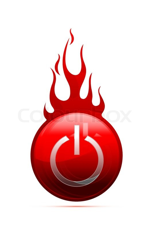 Illustration of power button with fire ... | Stock Vector ... | 533 x 800 jpeg 35kB