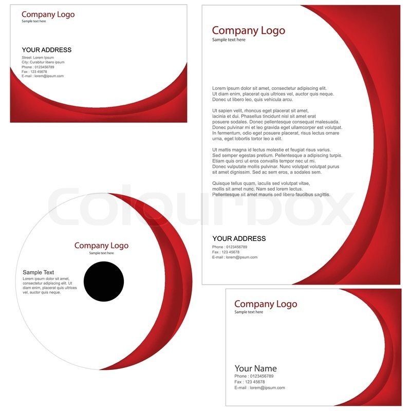 Business Cards And Letterheads Google Search: Set Of Business Templates Including Business Card,cd Cover