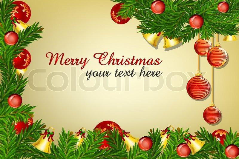 illustration of decor merry christmas card stock vector colourbox