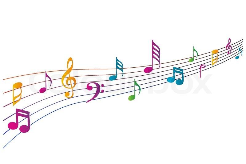 illustration af farverige musik   stock vektor  colourbox