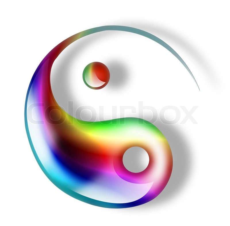 green yin yang symbol isolated on a white background stock photo colourbox. Black Bedroom Furniture Sets. Home Design Ideas