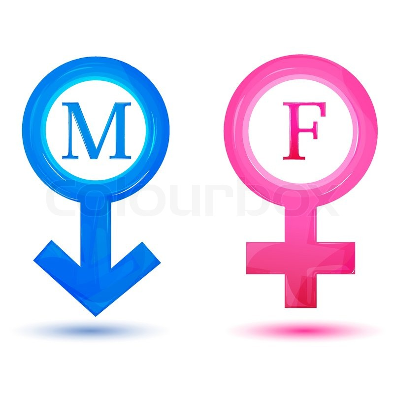 Illustration Of Male And Female Icons On Isolated -5653