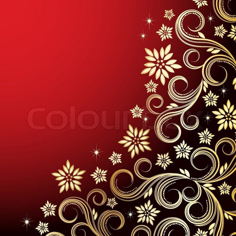 Holiday Floral Background Vector Stock Vector Colourbox
