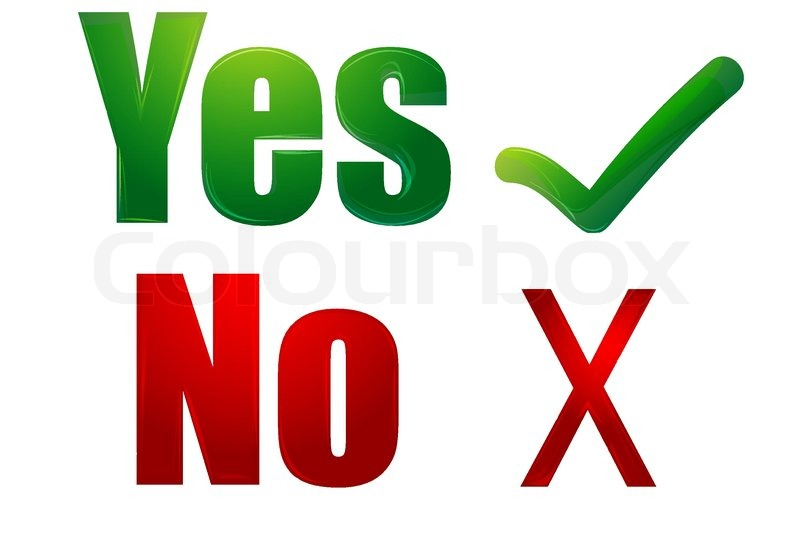 illustration of yes and no on white background stock clipart checkmark in box clip art checkmarks