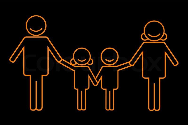 illustration der familie symbol auf wei em hintergrund vektorgrafik colourbox. Black Bedroom Furniture Sets. Home Design Ideas
