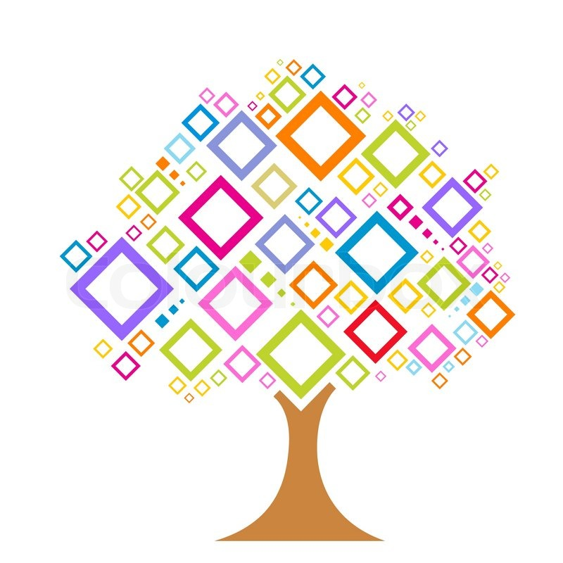 Illustration Of Colorful Vector Tree Stock Vector Colourbox