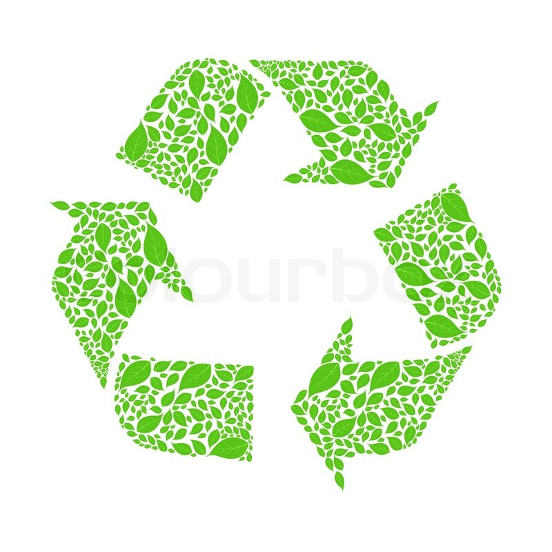 Cool Recycle Logo Illustration of...