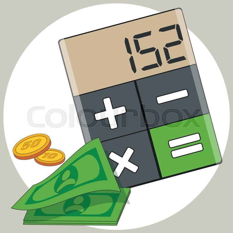 budget calculator vector flat illustration stock vector colourbox