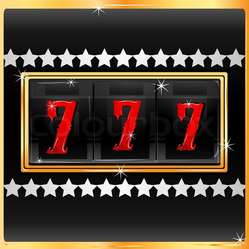Illustration of lucky number in slot machine for casino - Lucky number 7 wallpaper ...