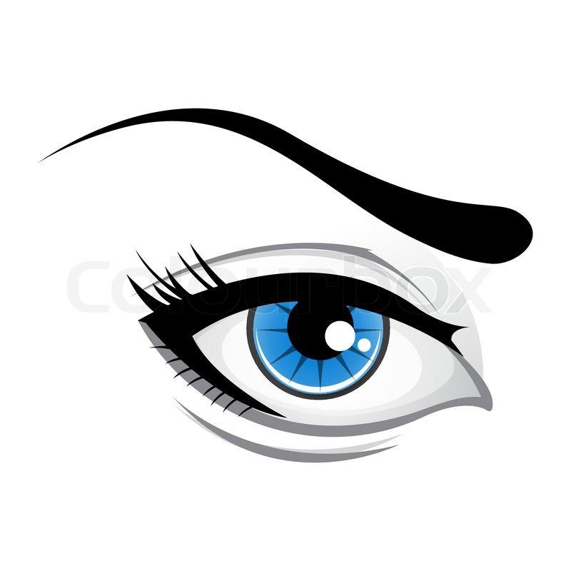 illustration of lady eye stock vector colourbox