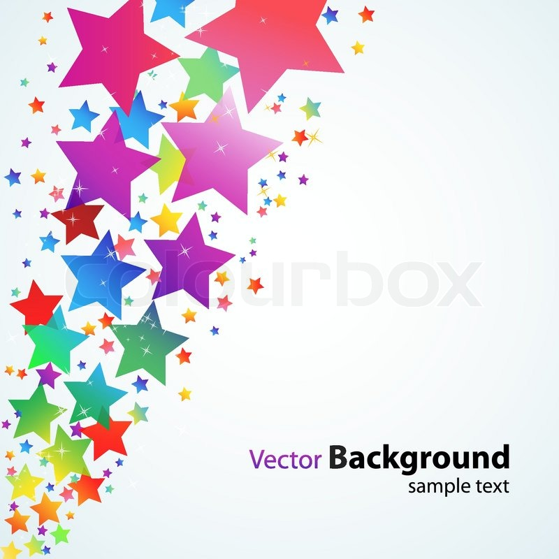 Illustration of vector background with colorful stars ...