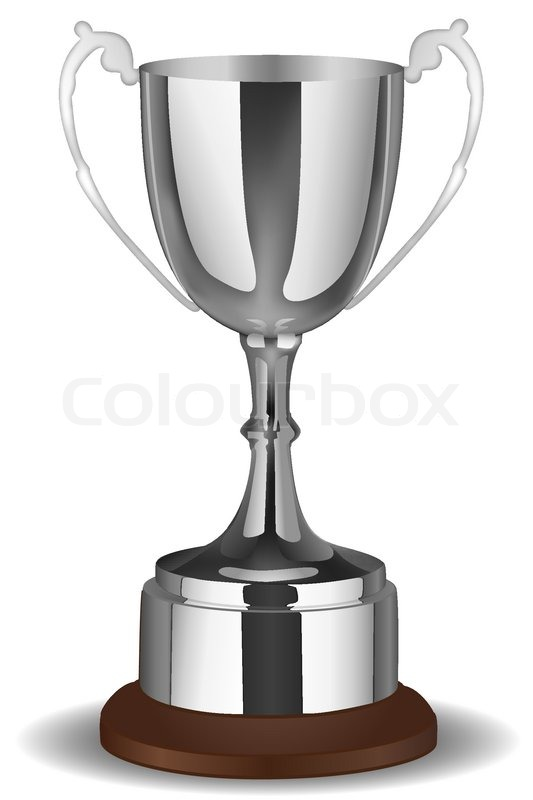 Illustration Of Trophy Icon On White Background